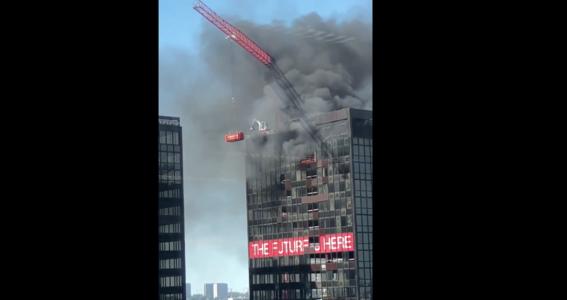 se incendia torre del world trade center de bruselas