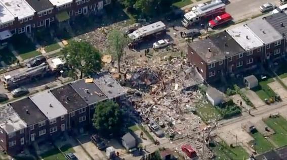 explosion en baltimore destruye tres edificios; habria un muerto
