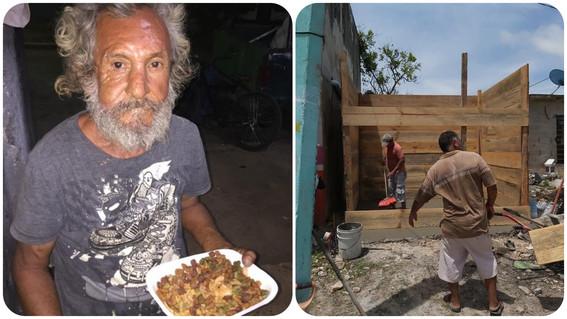 vecinos construyen 'casita de madera' a don jose comida croquetas chetumal