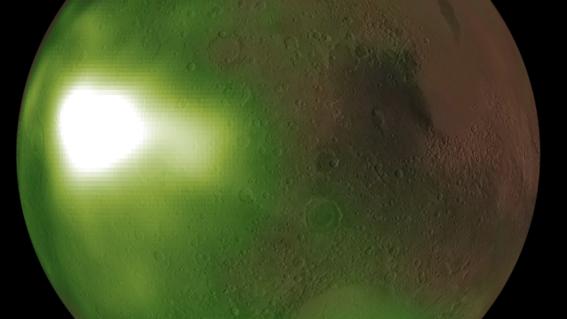 luz ultravioleta marte nasa
