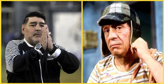 maradona pide el chavo del 8 en vhs para dar una entrevista