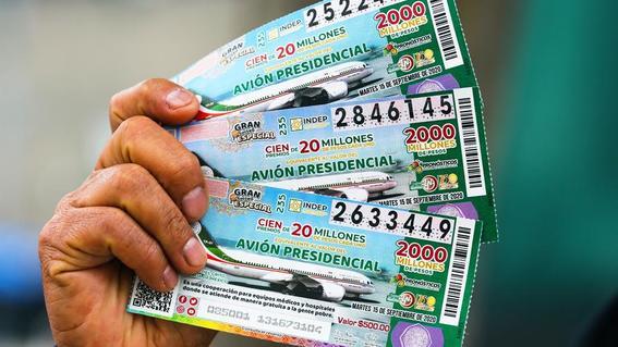 ganadores rifa avion presidencial cachito loterial nacional