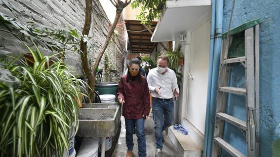 claudia sheinbaum recorrido zonas afectas lluvias cdmx
