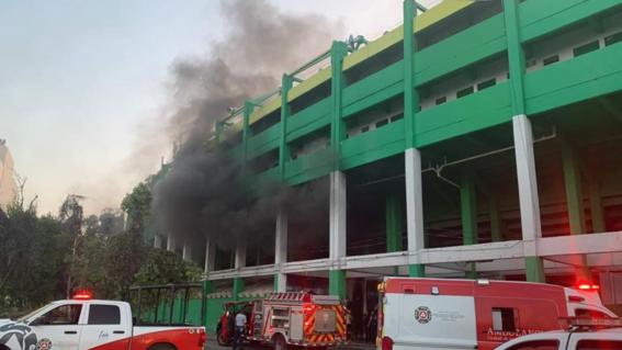 incendio estadio leon guanajuato