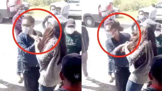 mujer cachetea a presidente municipal papalotla tlaxcala