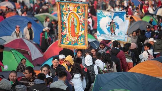 se cancelan celebraciones del dia de la virgen en la basilica