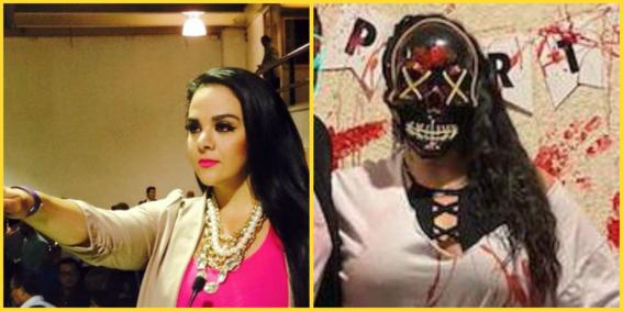 regidora de tijuana se convierte en tendencia por posar con armas en su disfraz de halloween