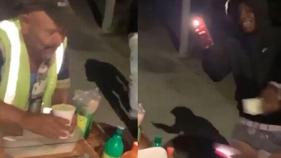 humillan a mexicano vendedor esquites elotes elotero california