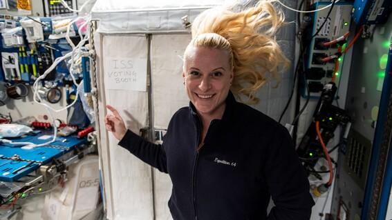 ¿como votan los astronautas desde el espacio nasa lo muestra