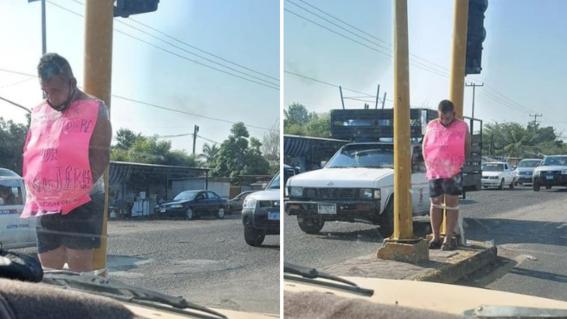 amarran a hombre golpear mujer nueva italia michoacan