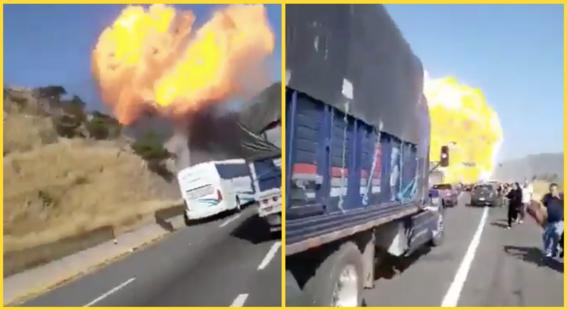 Explosión de pipa en autopista Tepic-Guadalajara deja 12 muertos