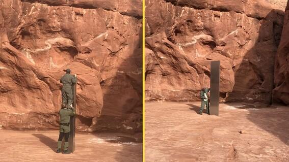 encuentran extrano monolito en el desierto de utah