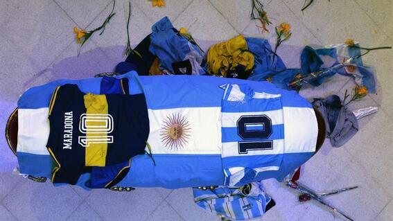 maradona fotos cadaver funeraria