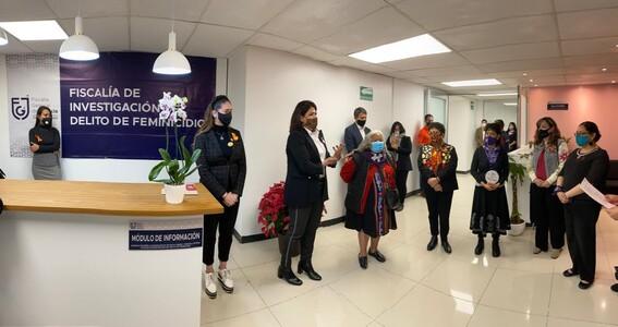 inauguran instalaciones de fiscalia de investigacion delito feminicidio cdmx