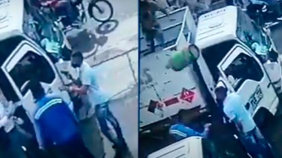 tanque de gas ladron asalto robo colombia