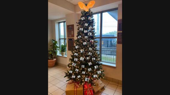 critican oficina del alguacil de alabama por decorar arbol de navidad con fotos de matones