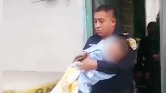 policias bebe tina agua tlalpan cdmx