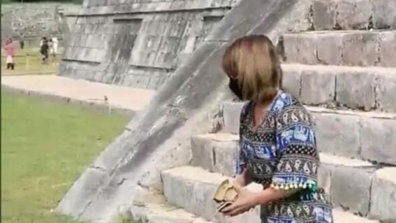 lady kukulkan mujer sube a chichen itza para cumplir promesa a esposo