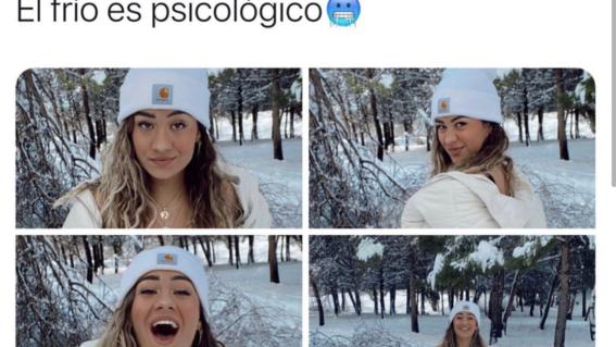 es falso que influencer fue ingresada al hospital tras posar en la nieve