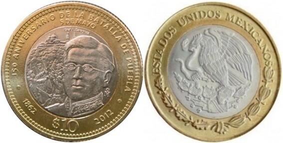 monedas de diez pesos de los 150 anos de la batalla de puebla podrian valer mas de 25 mil