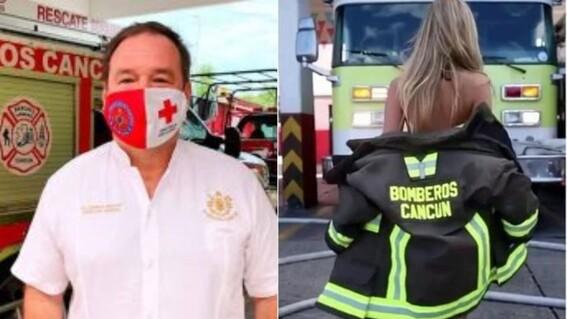 tras polemico video separan del cargo al director de bomberos de cancun