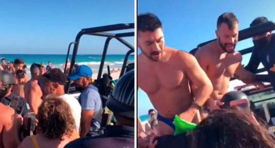 policias detienen a pareja gay por besarse en tulum