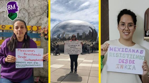 ¡resistiendo mexicanas en el extranjero se unen a la lucha del 8m
