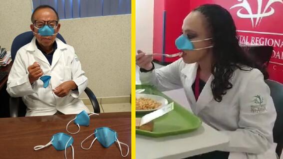 ipn crea mascarilla nasal para prevenir covid19 y usar al comer