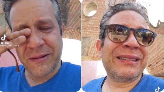 hombre llora desconsolado tiktok covid