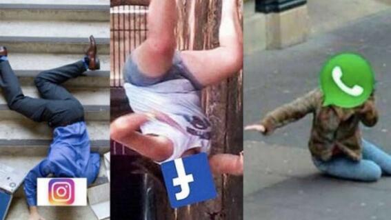 memes caida whatsapp instagram facebook