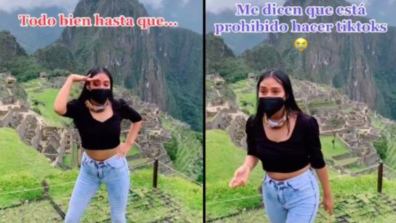video joven baila machu picchu para tiktok indigna redes sociales