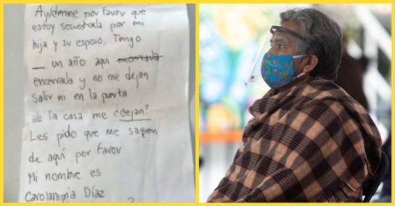 adulta mayor victima de maltrato pide ayuda a enfermero al recibir su vacuna anticovid