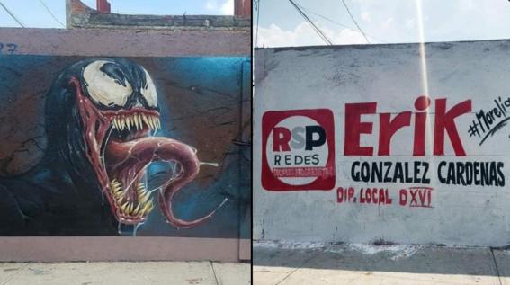 mural venom morelia michoacan