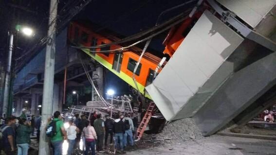 reportan heridos desplome metro olivos