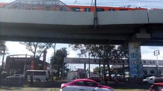 fotos antes y despues zona desplome estacion olivos metro