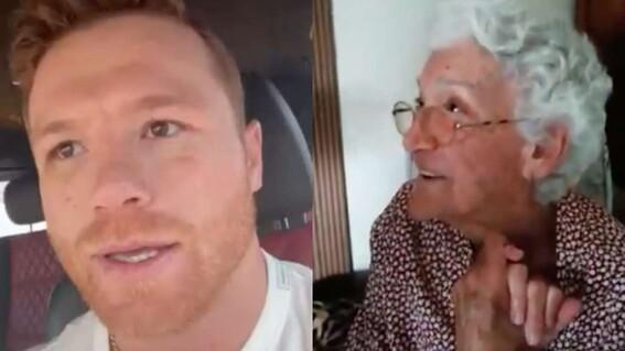 video canelo agradece abuela que prende veladora gane peleas