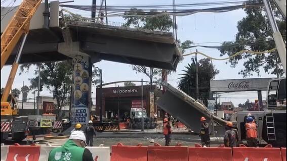 tres trabajadores heridos desmantelamiento trabe l12 metro