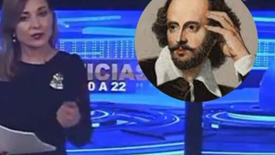 video presentadora se confunden con muerte escritor william shakespeare