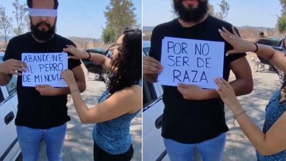 video mujer abandona novio por abandonar a perro por no ser de raza