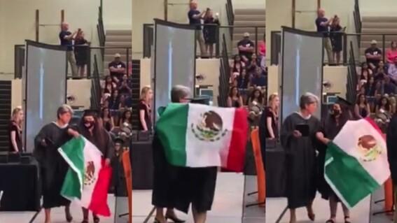 mexicana bandera graduacion carolina directora