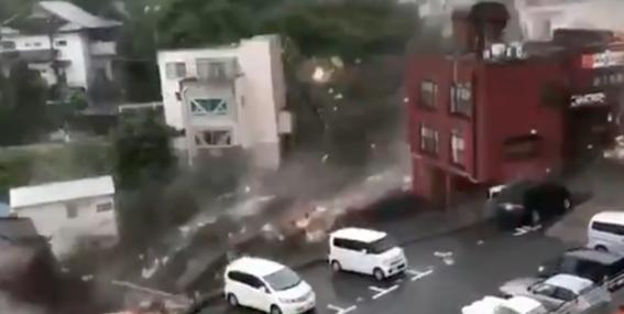 lluvias japon atami tierra