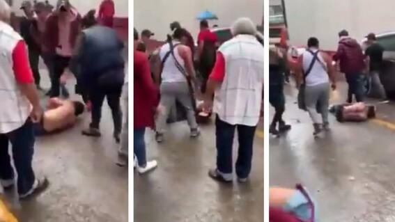 asaltante combi pasajeros golpiza delincuente ladron