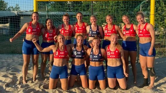 jugadoras noruega balonmano bikini uniforme