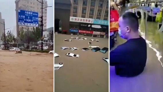 china zhengzhou lluvias inundaciones imagenes metro
