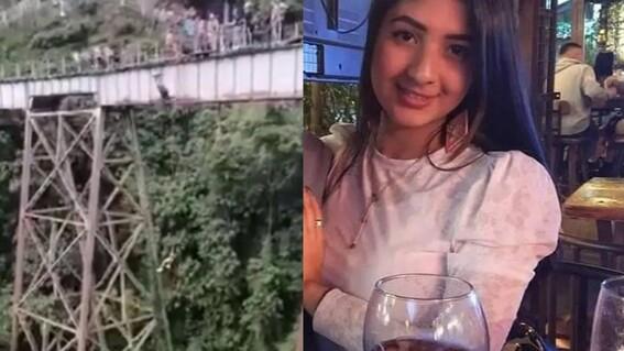 joven muere mujer saltar bungee amarrada yecenia