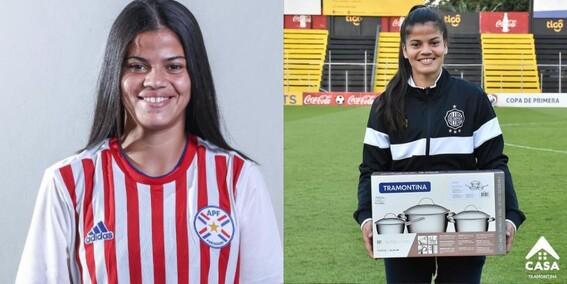 futbolista premio mejor jugadora olimpia paraguay ollas