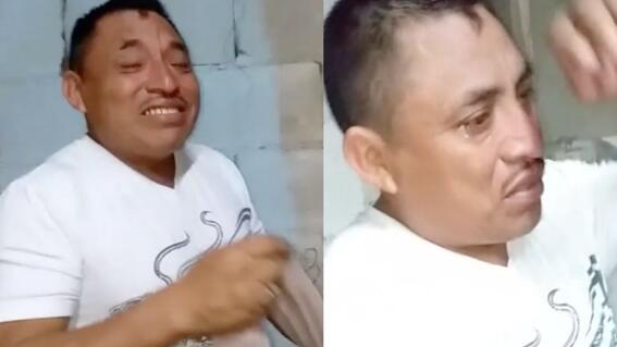tiktok hombre llora primer pastel cumpleanos