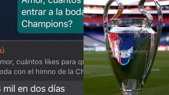 hombre trans pide likes himno champions boda