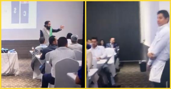 critican al coach carlos munoz por humillar a un mesero en conferencia